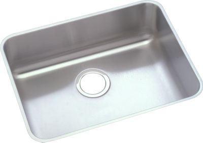 elkay eluh191612 gourmet undermount 12 inch depth single bowl kitchen sink in stainless steel f
