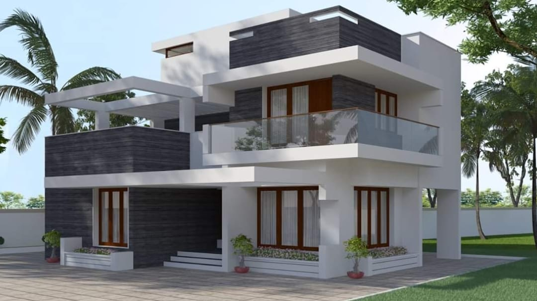 2034 Square Feet 4 Bedroom Contemporary Style Home And Plan Home Pictures