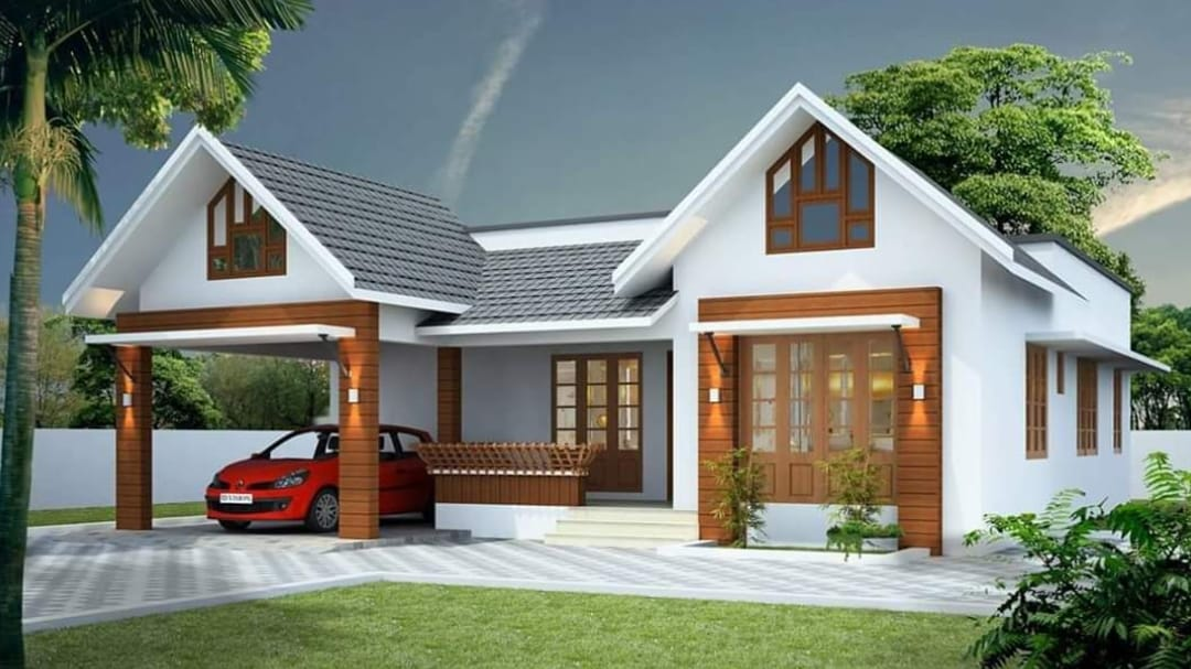 1350 Square Feet 3 Bedroom Single Floor Kerala Style House And Plan Home Pictures