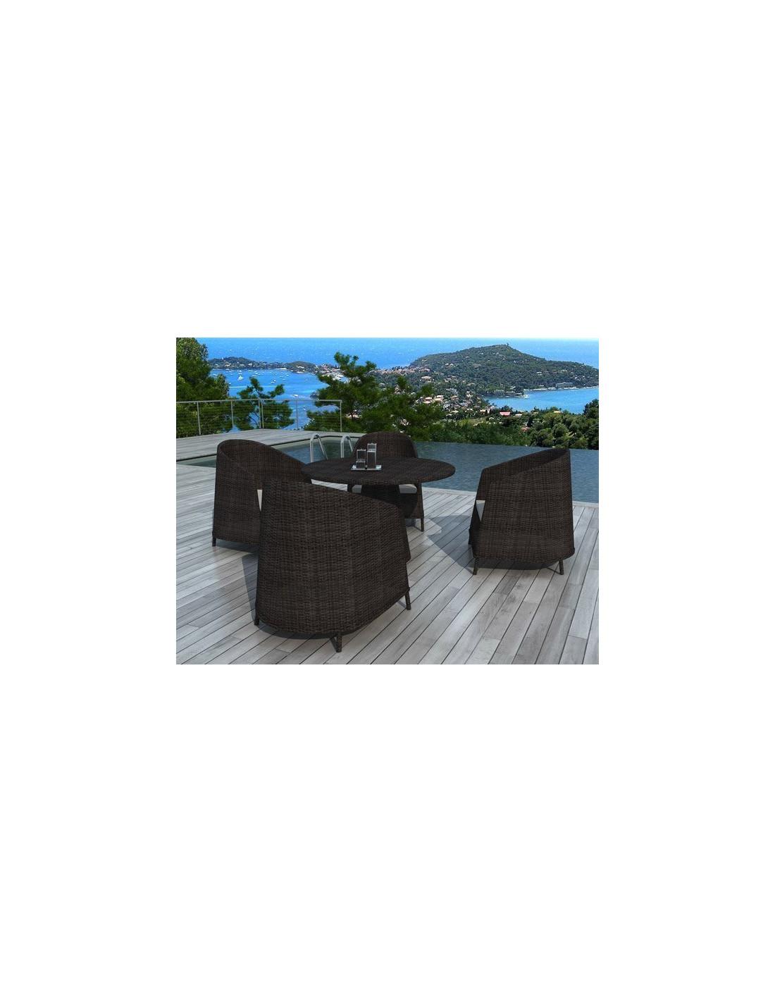 Ensemble Table Et Chaises De Jardin 4 Places Modle Lavezzi