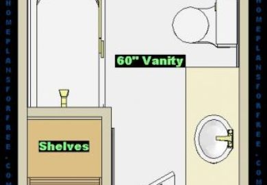 Small Bathroom Layout 6 X 8