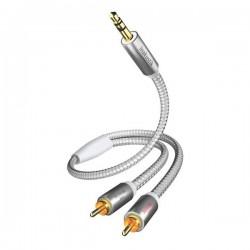 Câble Jack Stéréo 3,5MM 4PIN Mâle/Mâle 4 Pôles dorées 2M Noir