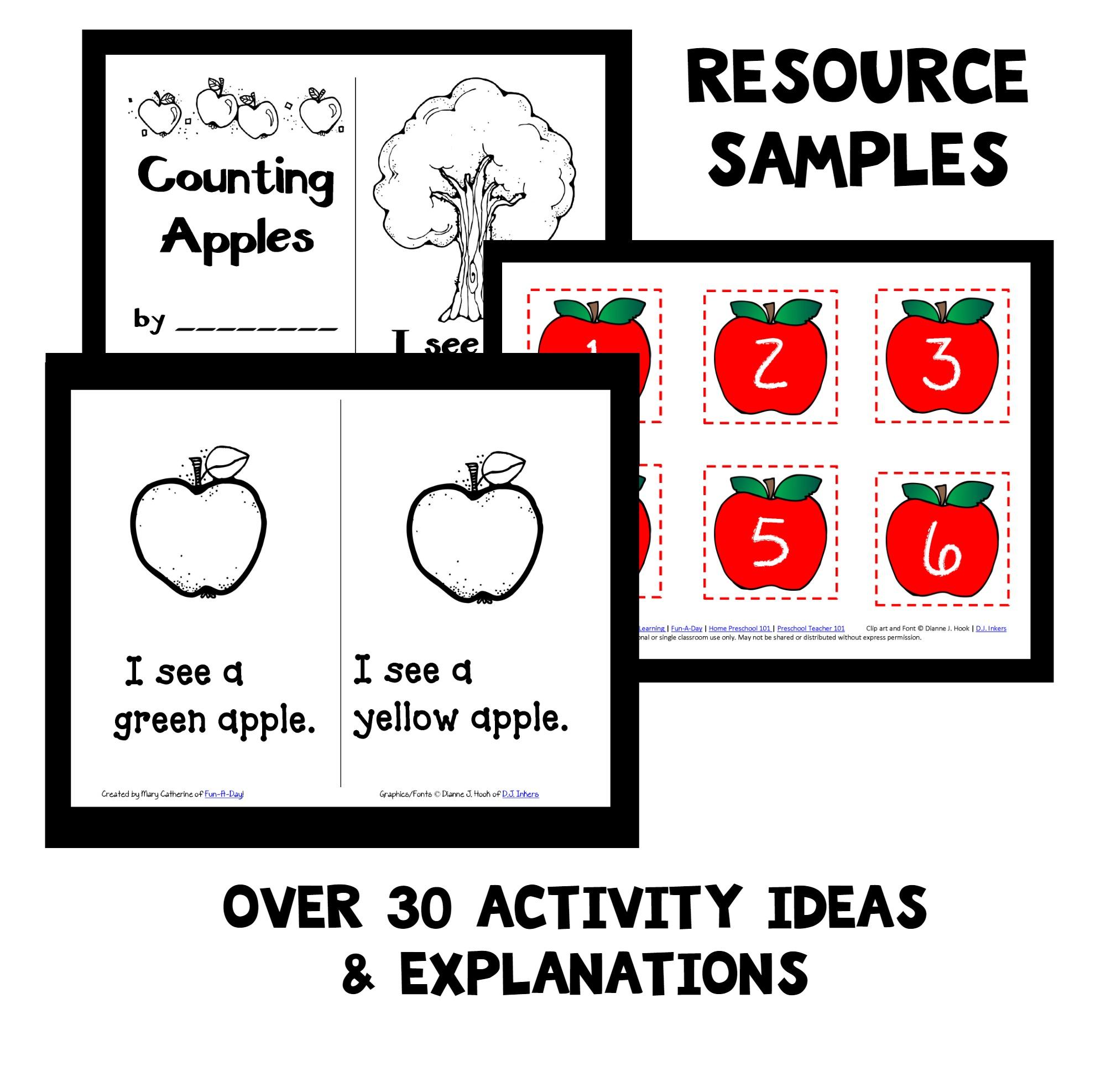 Apples Home Preschool Lesson Plan