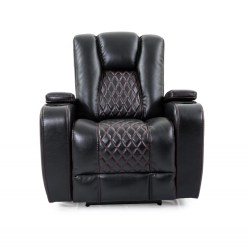 Cheers Black Fabric Dual Power Chair