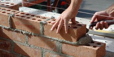 brick wall construction fishtail