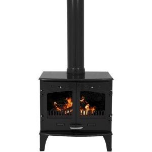 Carron 11kW Cast Iron Stoves Wood Burning Black Enamel