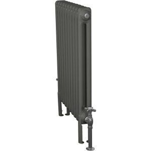 Home-Refresh-Carron-Enderby-2-Column-10-Section-Steel-Radiator-710mm-Farrow-and-Ball-Down-Pipe