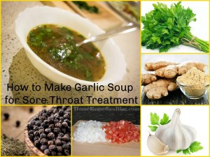 Sore Throat : How to Make Garlic soup for throat pain
