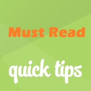 Acne Quick tips
