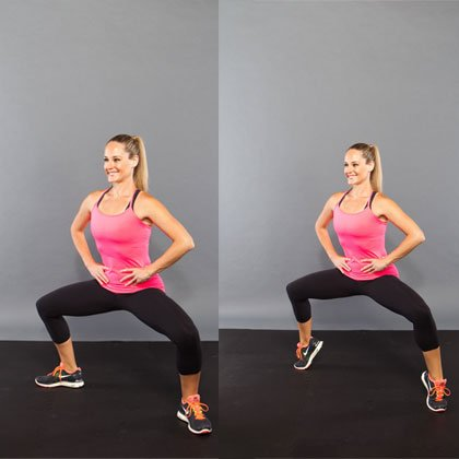 Cellulite-workout-Side by Side Squat With Alternating Heel Raise