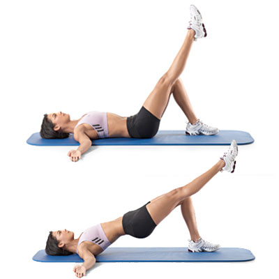 Single-leg Hip Raise-anti-Cellulite Exercise