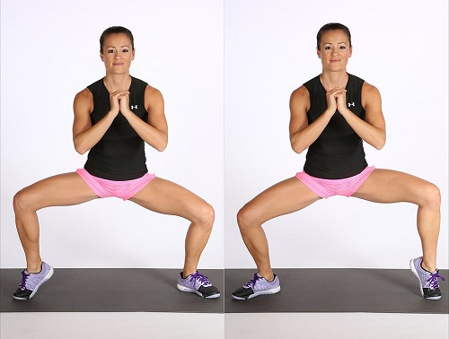 Squat With Calf Raise Cellulite Workout
