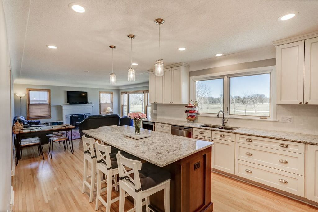Bright Open Concept Kitchen Remodel Minneapolis  Titus Contracting