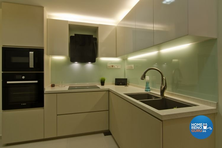 summit all in one kitchen narrow countertops renovation singapore | bathroom