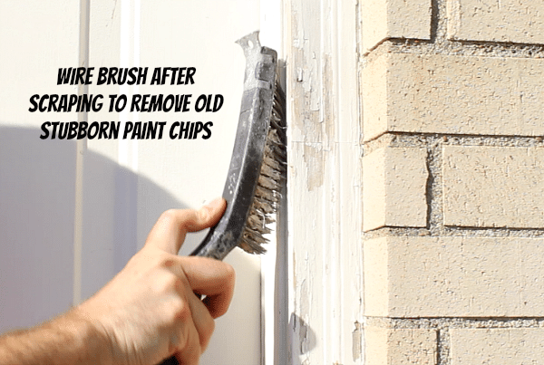 Scraping off old paint
