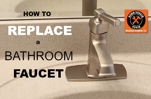 how to replace a bathroom faucet | home repair tutor