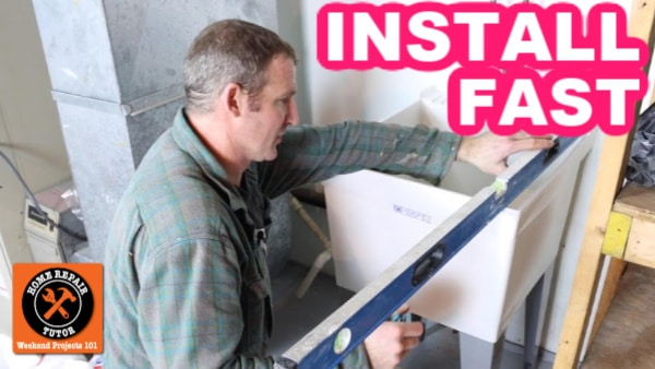 how to install a utility sink in 15