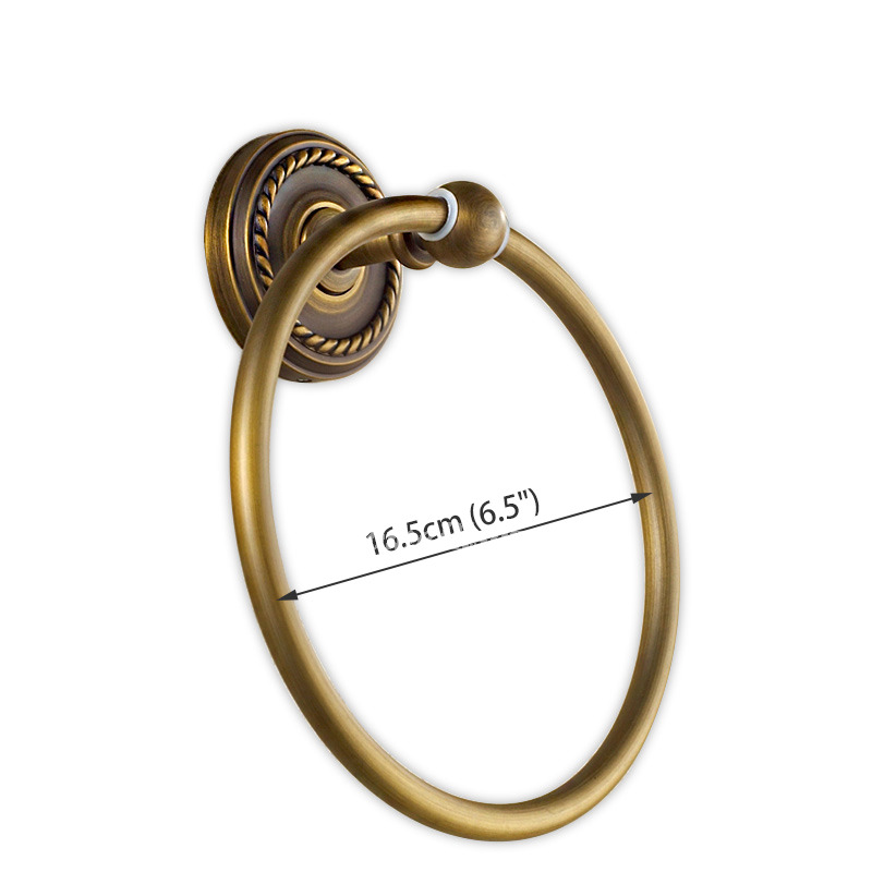 Wine 3d Wallpaper Golden Antique Brass Vintage Towel Ring Bathroom