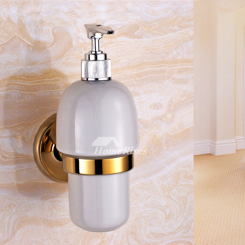 vintage style kitchen faucets cabinet blueprints xble polished brass gold wall mount liquid soap ...