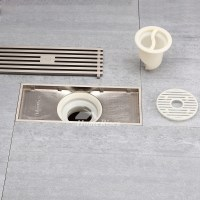 Modern Brushed Nickel High End Parallel Shower Drain ...
