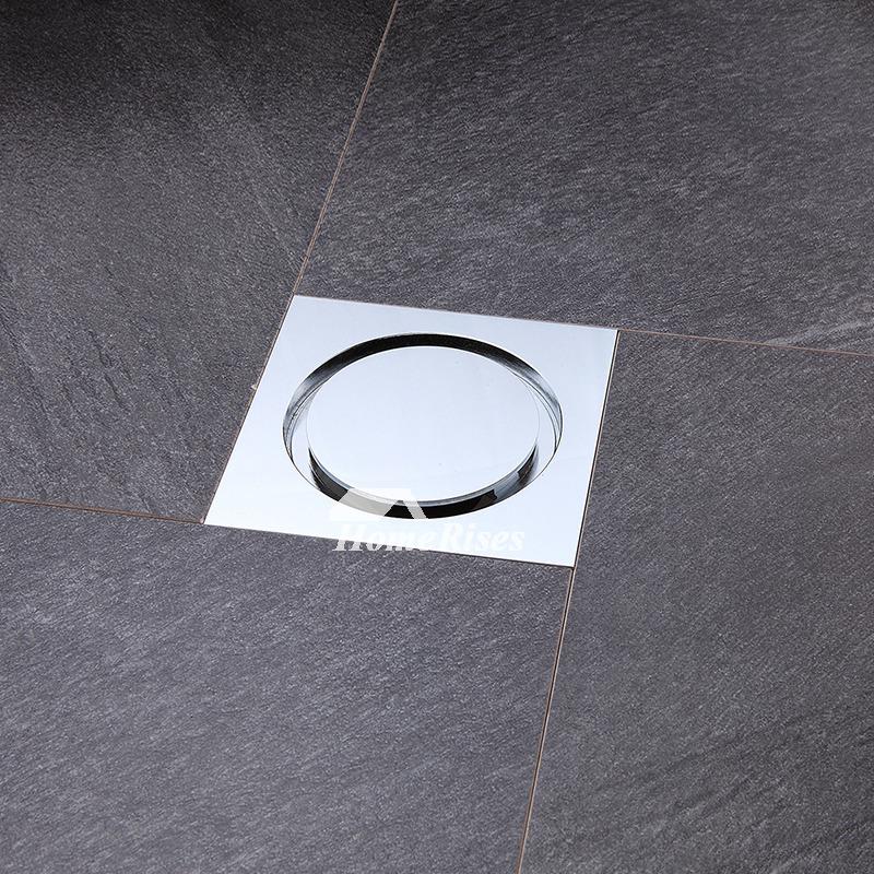 Modern Polished Chrome Deodorant Square Shower Drain