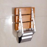 DPXE Bamboo | Teak Wood Grating Wall Mounted Folding ...