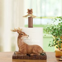 Unique Decorative Free Standing Deer Toilet Paper Holder
