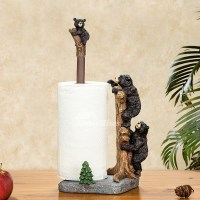 Unique Creative Free Standing Black Bear Toilet Paper ...