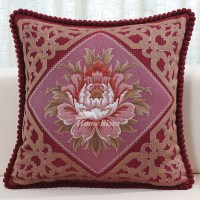 Luxury Throw Pillows For Sofas Vintage Flower Embroidered ...
