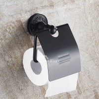 Cool Wall Mounted Toilet Paper Holder Aluminum Black