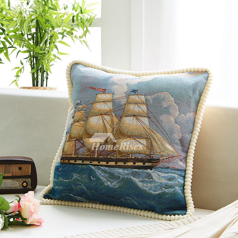 coastal blue nautical linen