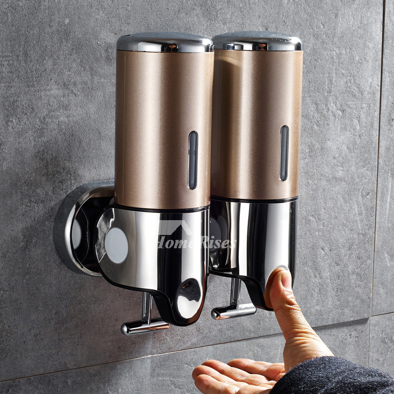 stainless steel kitchen soap dispenser hanging lights for commercial double gold wall mount