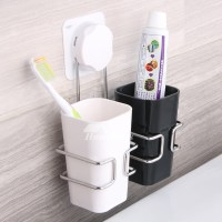 Simple Suction Cup Hanging Bathroom Toothbrush Holder