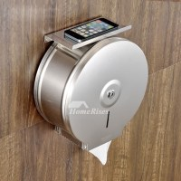 Toilet Paper Holder Commercial Wall Mount With Shelf ...