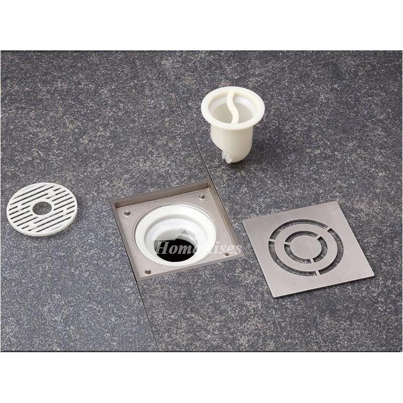 LTJ Bathroom Fine Brass Brushed Design Square Shower Floor