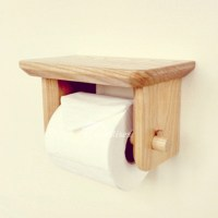 wooden toilet paper holder wood toilet paper holder wall ...