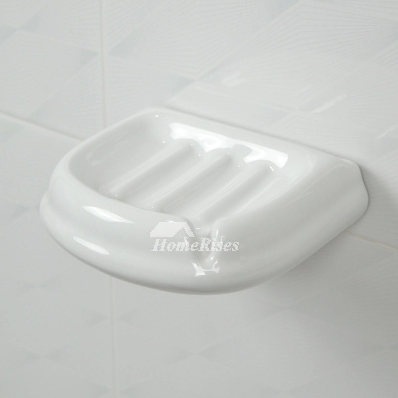 wall mount kitchen light fixtures metal shelf ceramic soap dish for shower white holder
