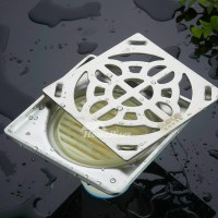 Smooth Chrome Shower Drain Thicken Stainless Steel