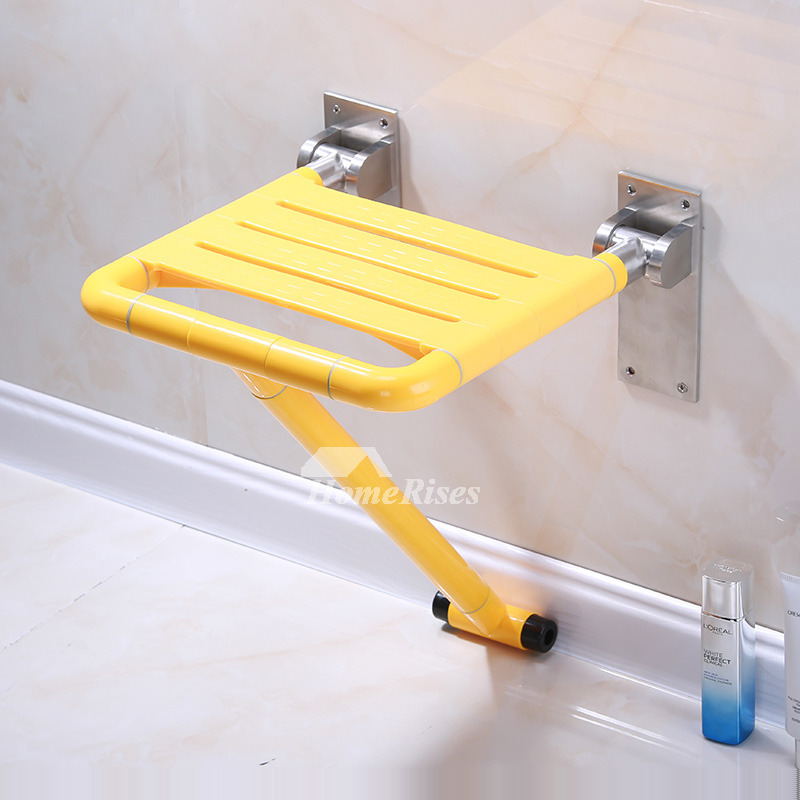 Solid Handicap Shower Seat Wall Mount Bathroom
