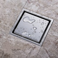 Hidden Shower Drain Square Shaped Stainless Steel