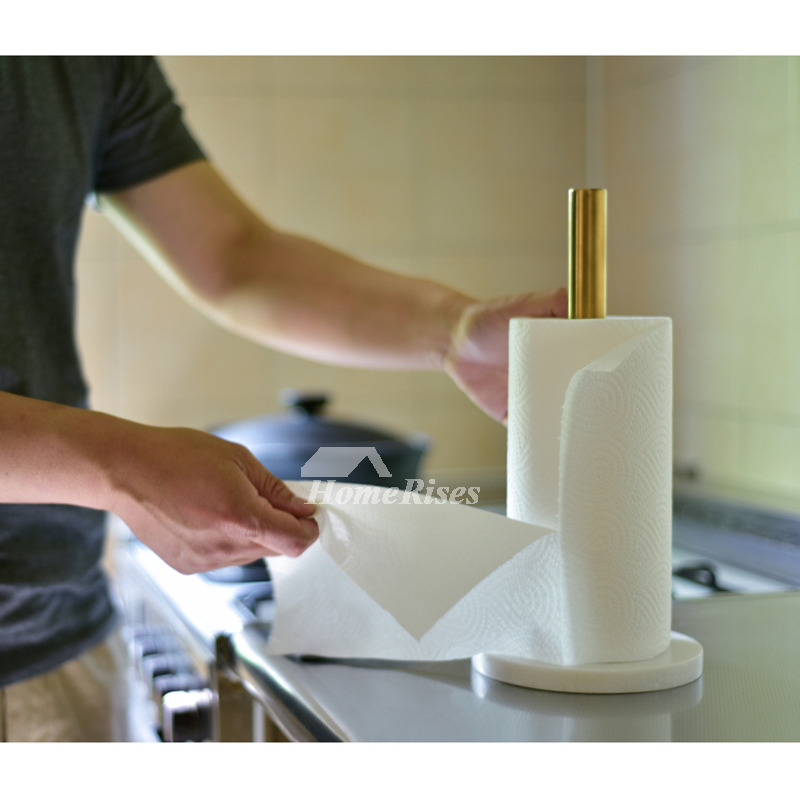 gold kitchen hardware sink capacity brass marble paper towel holder / tissue ...