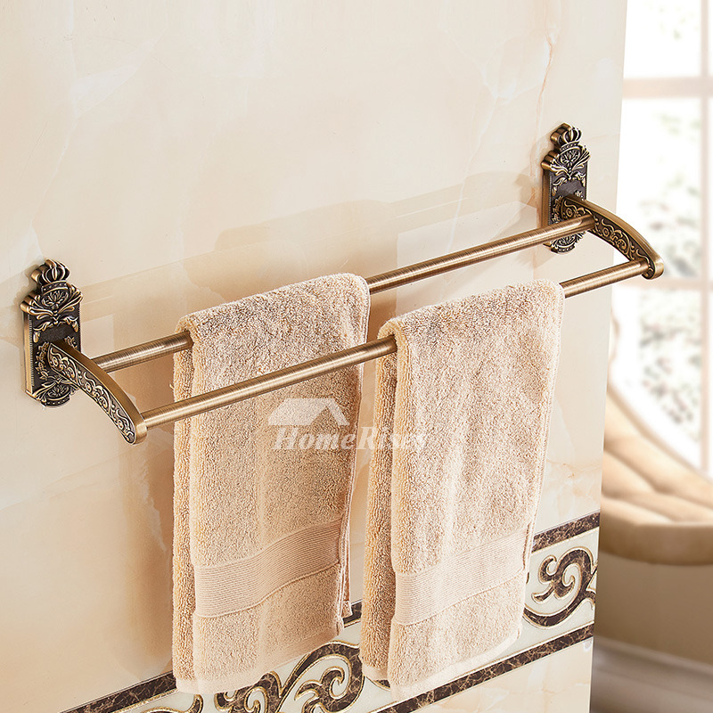 vintage style kitchen faucets space saving 4-piece brass antique bathroom hardware set