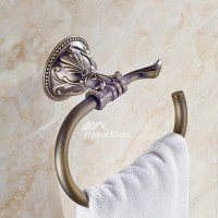 Design Wall Mount Antique Bronze Vintage Towel Ring