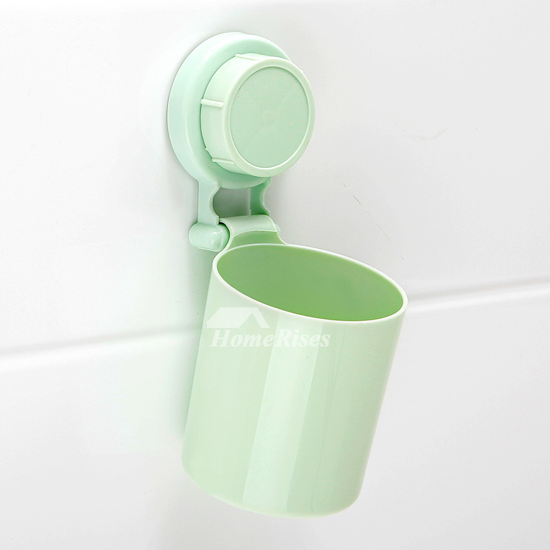 Toothbrush Holder Suction Cup PVC Bathroom