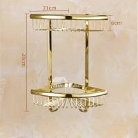 Polished Brass Bathroom Accessories Set Gold Carved ...