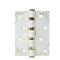 Modern White Door Hinges Stainless Steel No Slot 2 Pcs Carved