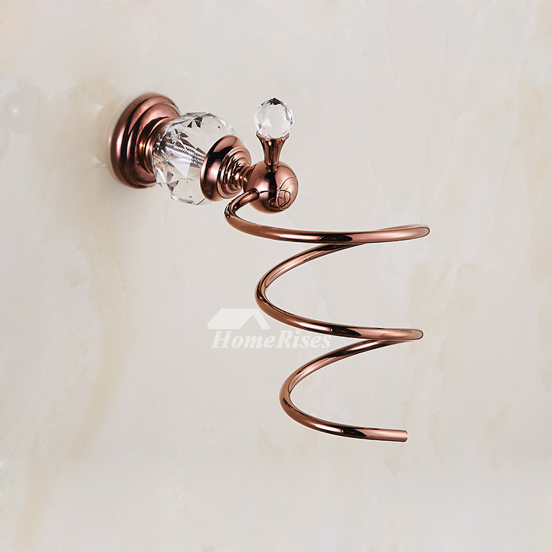 Wall Mounted Hair Dryer Holder Luxury Chrome Polished Brass