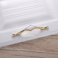 Cheap Cabinet Pulls Ceramic Zinc Alloy Gold Drawer Poished
