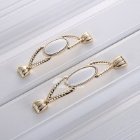 Cheap Cabinet Pulls Ceramic Zinc Alloy Gold Drawer Poished ...