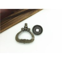 2 Inch Cabinet Pulls Antique Bronze Carved Zinc Alloy Bedroom